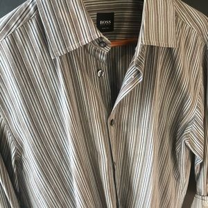 Hugo Boss button down striped shirt